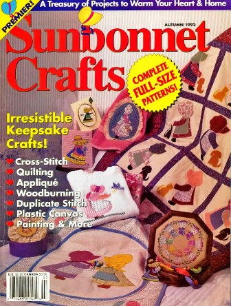 Revista Sunbonnet com riscos