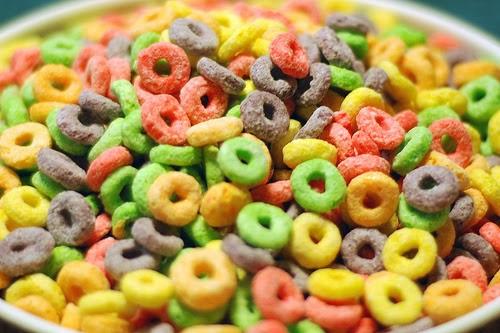 cereales desayuno comida basura chatarra azucar niños