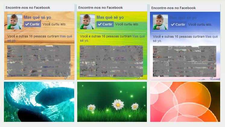 Likebox personalizadas: Como pôr imagens de fundo