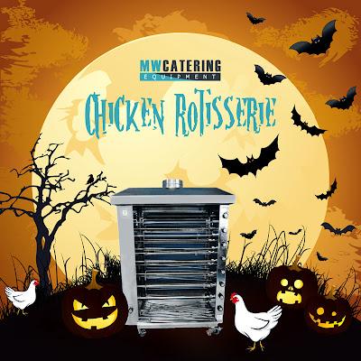 Mid West Catering Equipment - Halloween Chicken Rotisserie