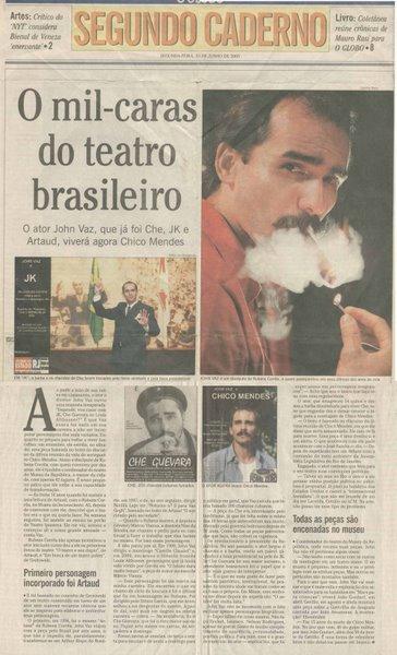 Capa de O Globo
