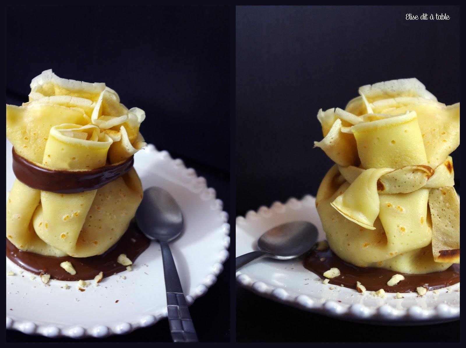 recette Aumônière de crêpe poire et chocolat