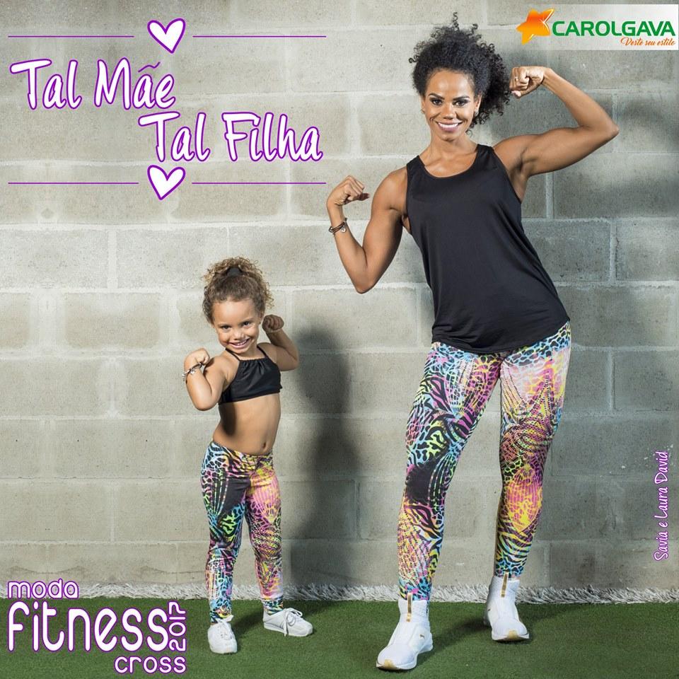 Moda fitness Mãe e Filha!