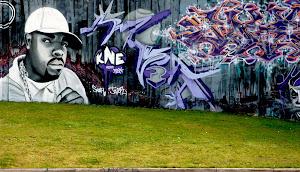 Grafites são um dos pilares da cultura Hip Hop, que incluí também a dança, o som dos DJ's e o rap