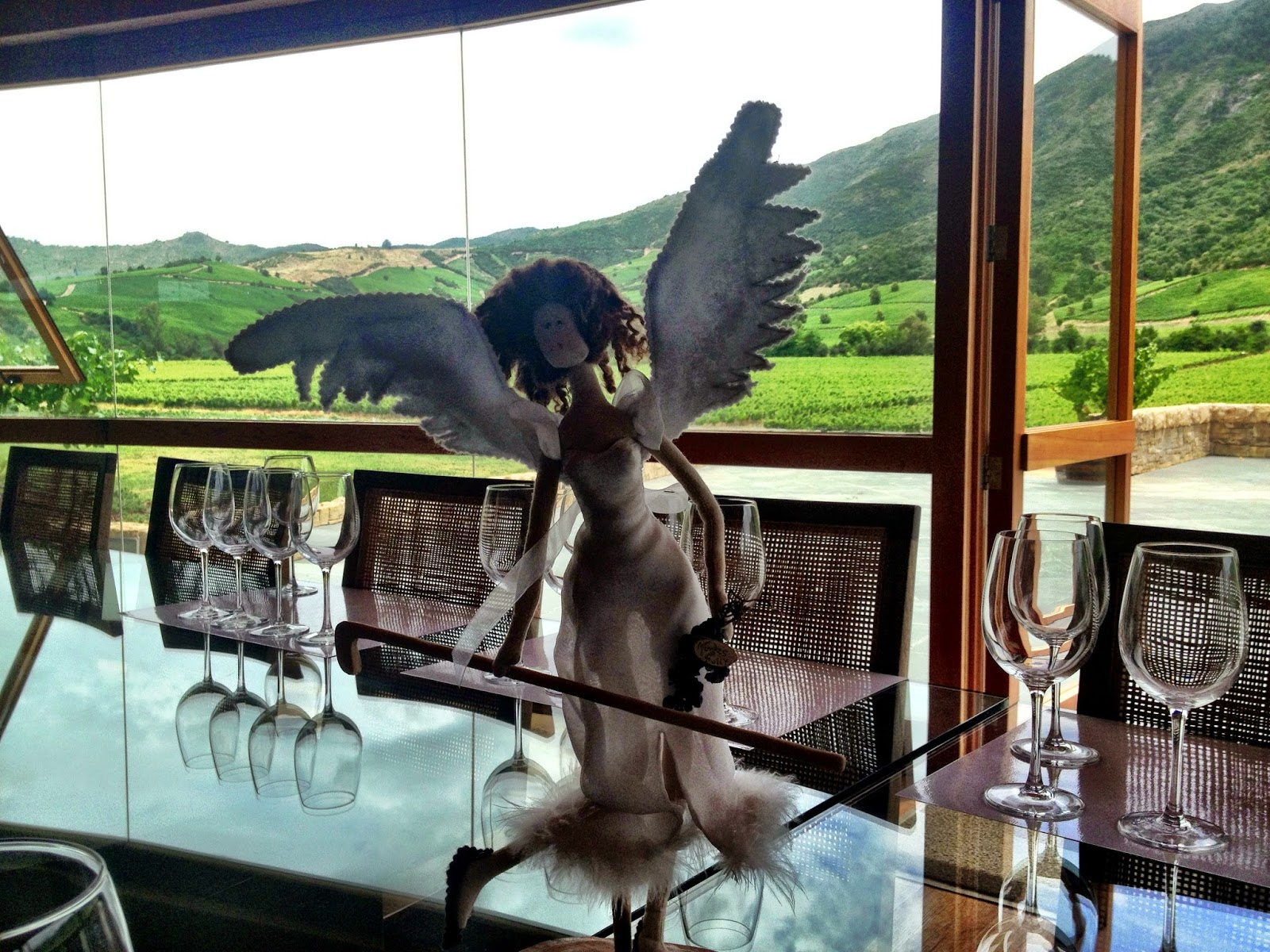 Montes winery view and angel