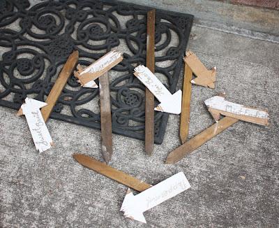 damaged crackled signs