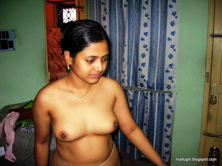 Busty nude wife at home