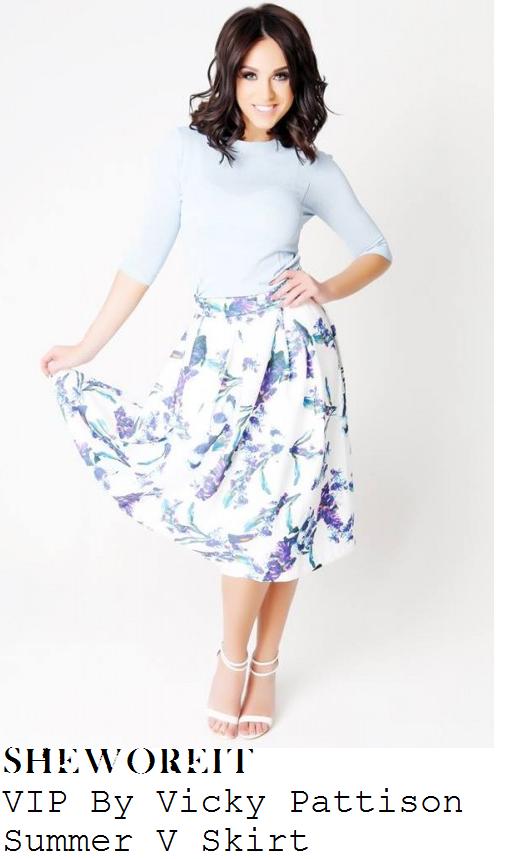 vicky-pattison-white-blue-floral-print-midi-skirt-judge-geordie