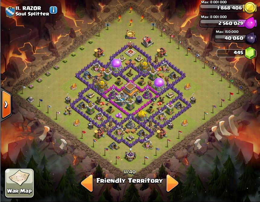 RAZOR - COC Clans War Base