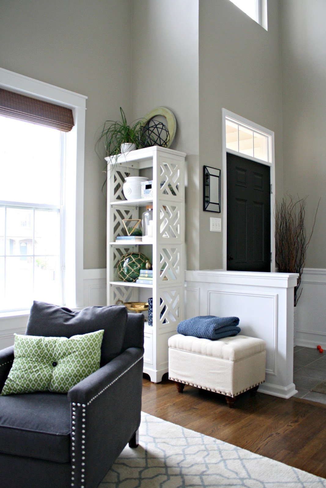 The living room then and now from thrifty decor chick for Thrifty decor