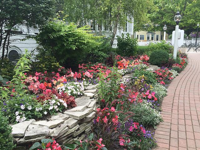 Mackinac Island garden 2015