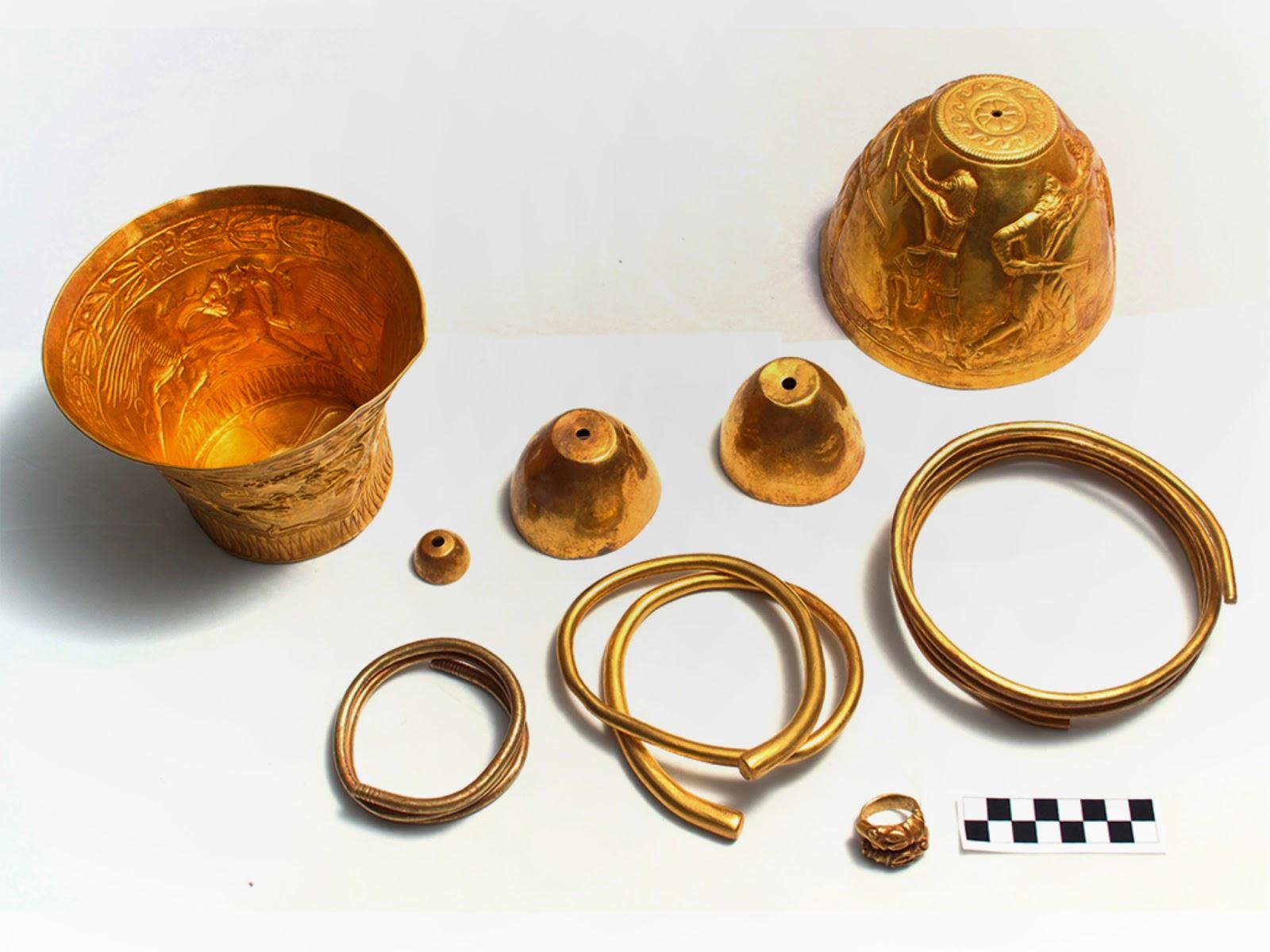 Scythian gold vessels used in 'hemp rituals'