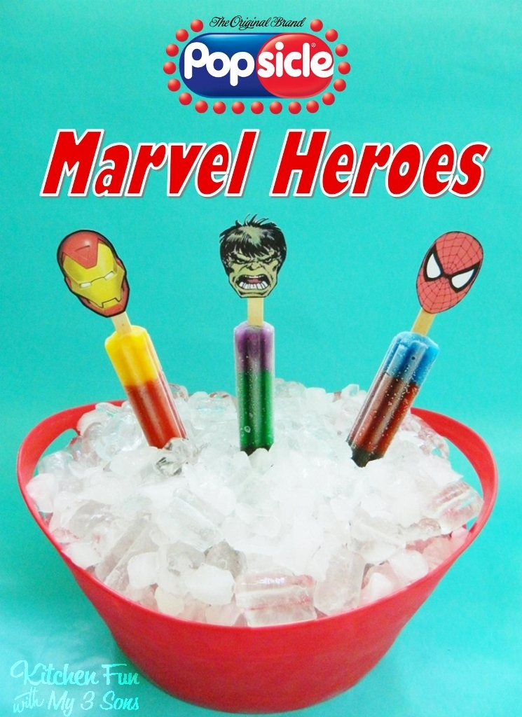 Popsicle Marvel Heroes With Free Printable Target Gift Card GIVEAWAY