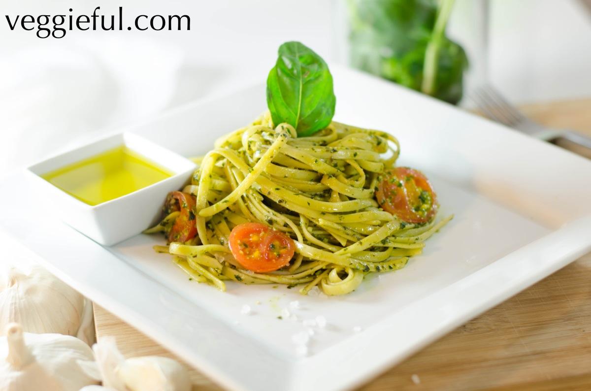 Veggieful: Vegan Basil Pesto Pasta Recipe