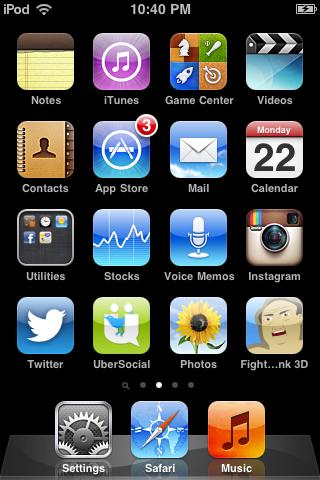 Gamenya sudah terpasang di iPod Touch Saya ^.^