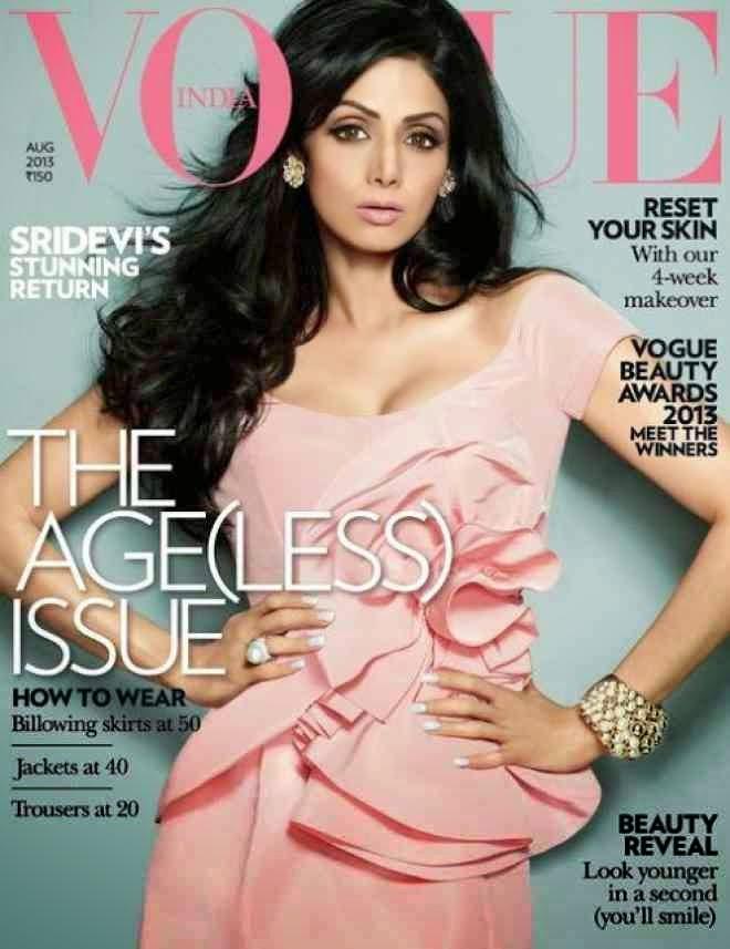Sridevi Vogue Magazine Hot Photos