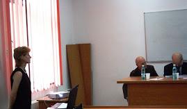 drd. Alina Brăescu la susţinerea tezei, 23.09.2011....