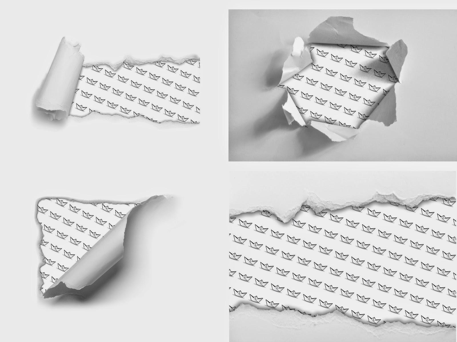 Как сделать порванный лист вшопе