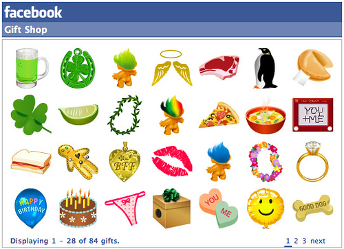 gifts facebook
