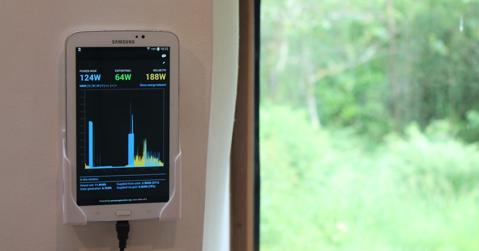 using a tablet as a wall mount energy display