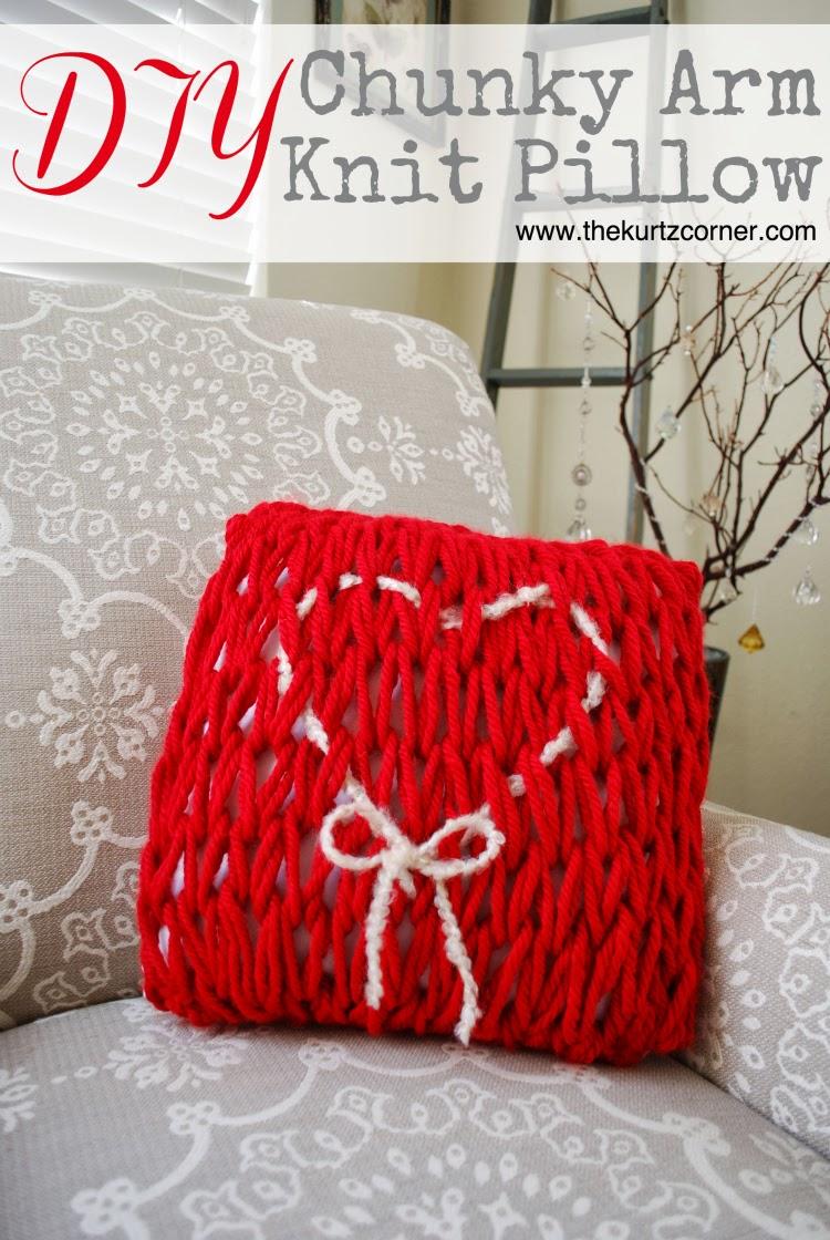 The Kurtz Corner: DIY Arm Knit Valentine\'s Day Pillow
