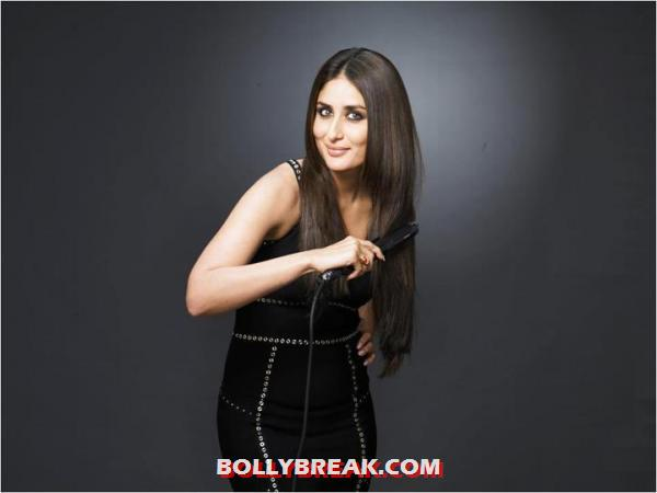 Kareena Kapoor looking fabulous in a black dress for Philips hair care  -  Kareena Kapoor&#39;s New Photoshoot  Philips Hair Care