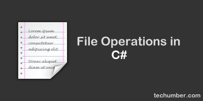 BASIC FILE OPERATIONS CREATE,WRITE,READ,APPEND AND DELETE IN C#.NET