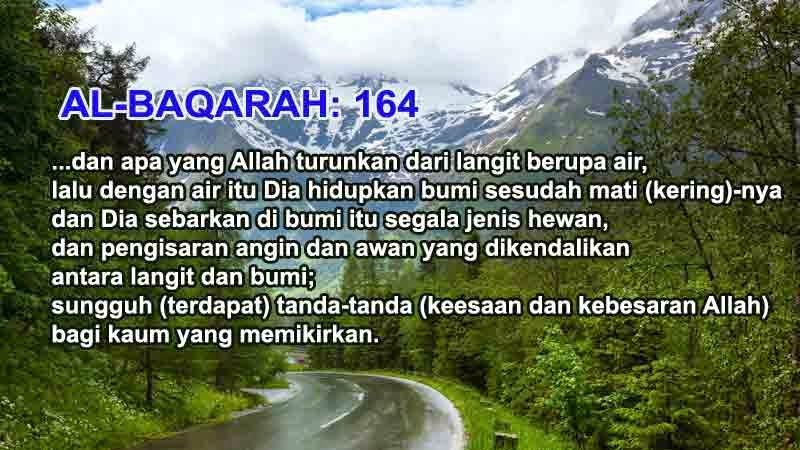 al-quran menyatakan tentang air