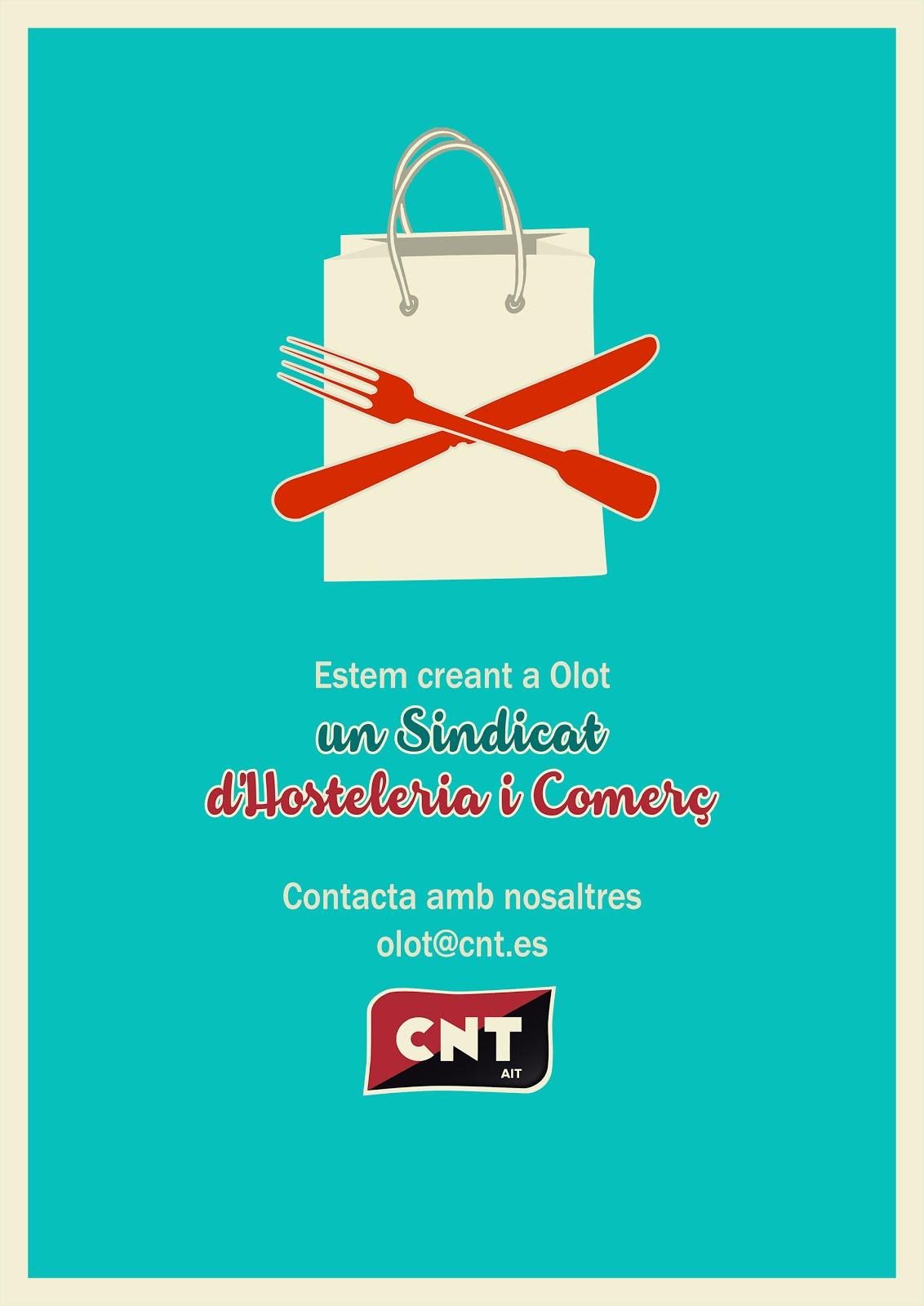 Campanya per crear un sindicat d'Hostaleria i Comerç federat a la CNT-AIT d'Olot