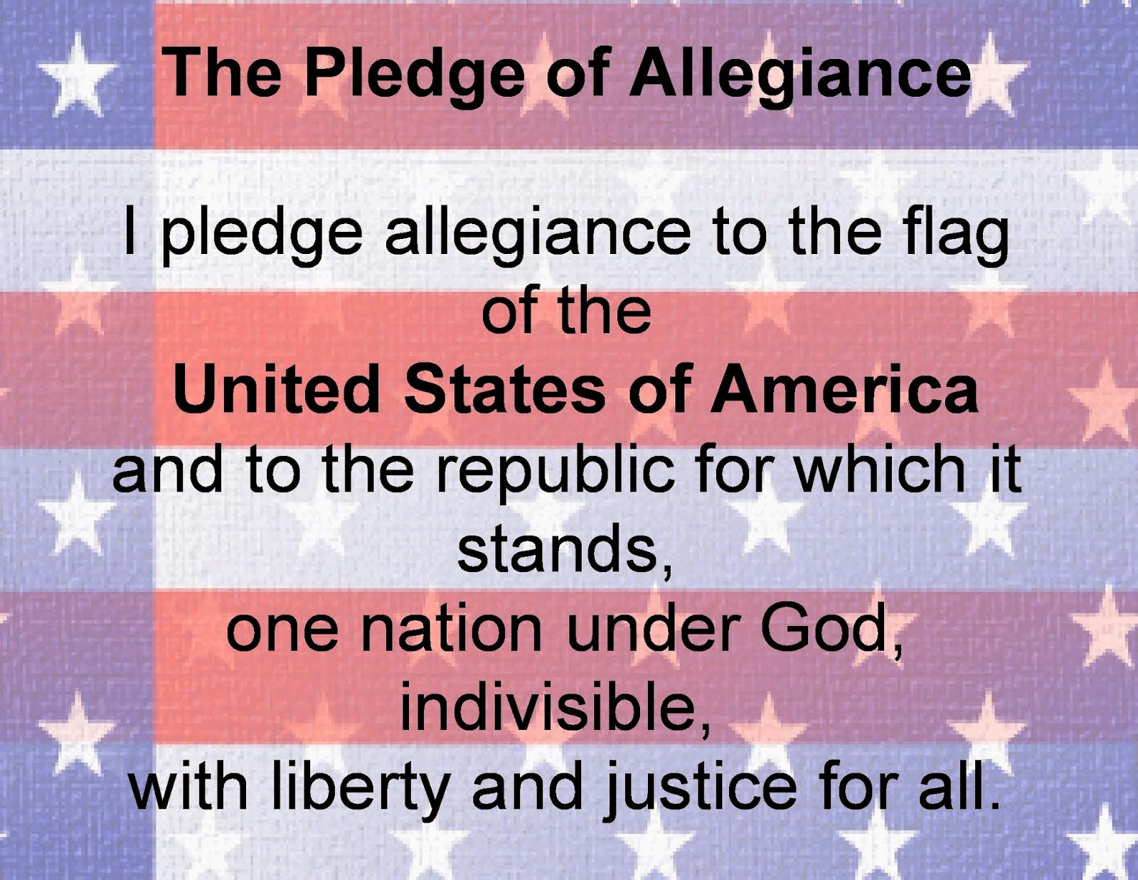 under god in the pledge Support for keeping under god in the pledge of allegiance is popular in america even some atheists, as well as normally staunch defenders of secularism and church/state separation, question whether it's necessary or appropriate to remove under god from the pledge a variety of arguments and.