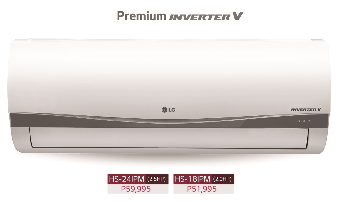 LG Premium Inverter V AC - HS-241PM (2.5 HP) and HS-181PM (2.0 HP)