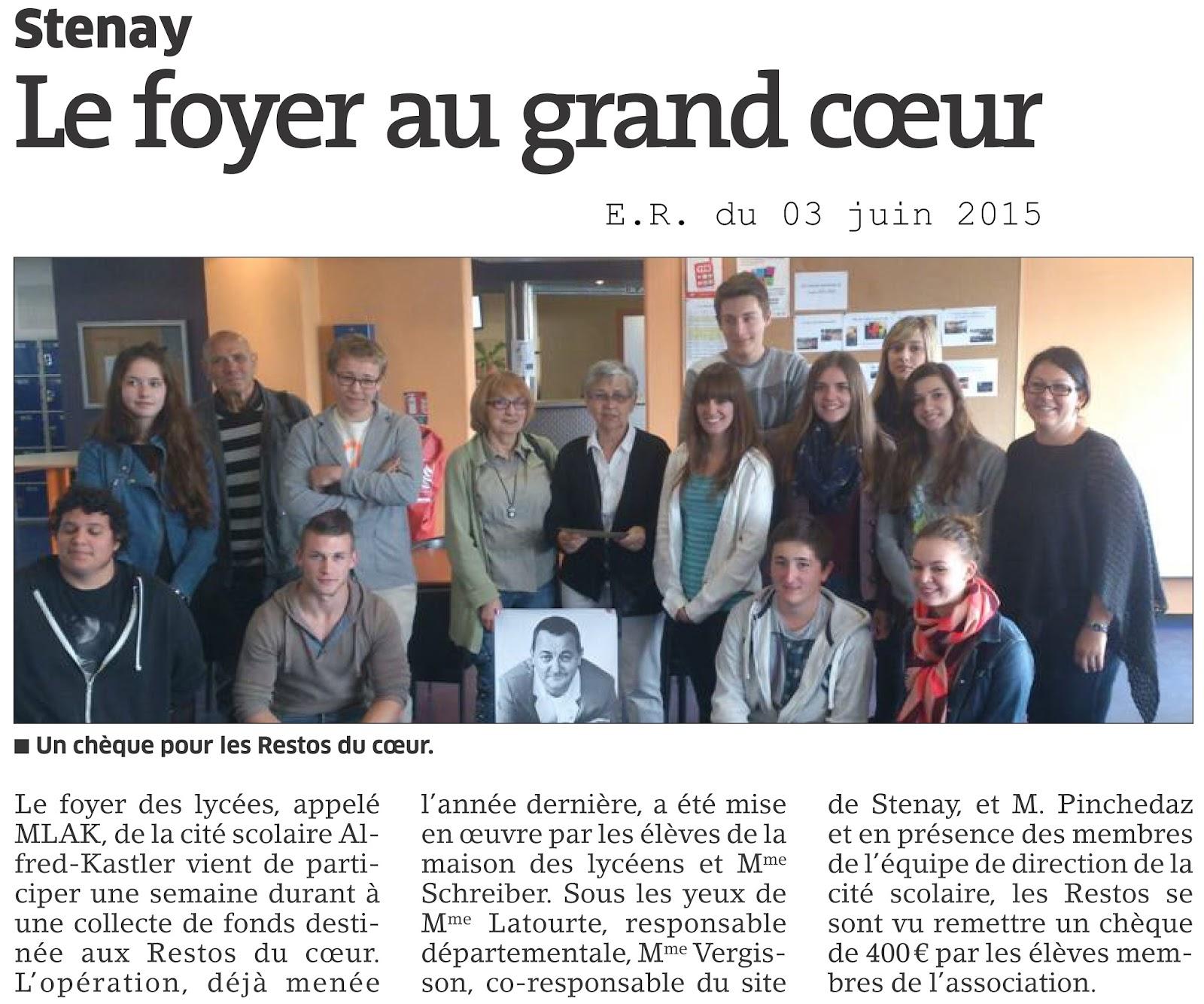 Foyer Au Grand Lancy : Cité scolaire alfred kastler stenay juin