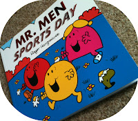 Mr. Men Sports Day and Mr. Men Sports Day Sticker Scene book