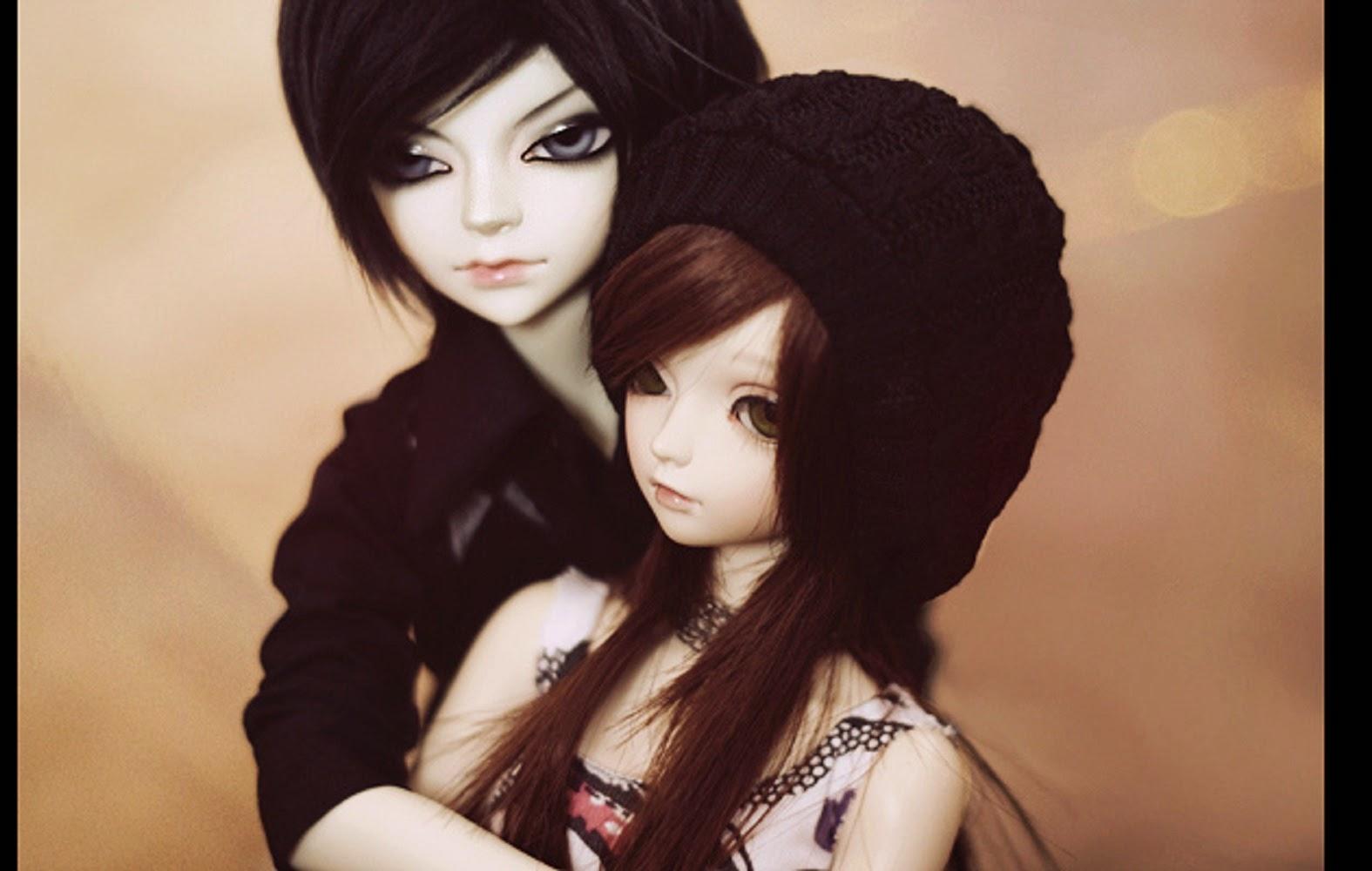 Doll Couple Cute HD Wallpaper Free