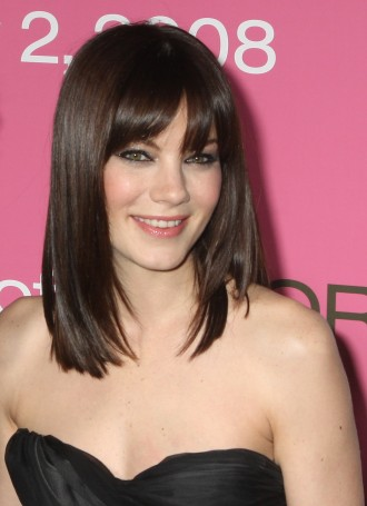 medium hairstyles with front bangs