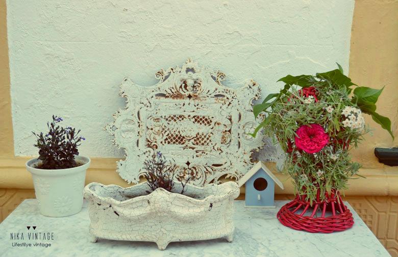 diy, hazlo tu mismo, vintage, rosa, flor de cera, arreglo floral, decoracion, adorno