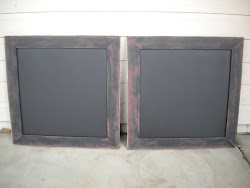 black and barn red chalkboards...SOLD