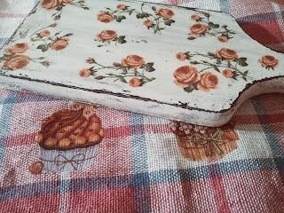 Różana deseczka,  ściereczka w muffinki i naturalna terapia :) i