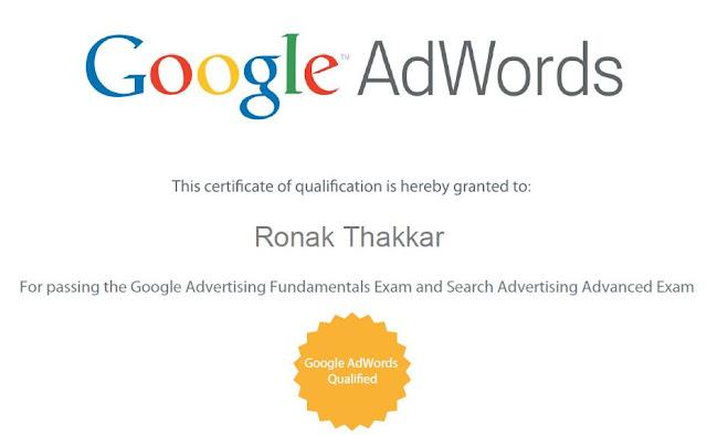 Adword Certificate