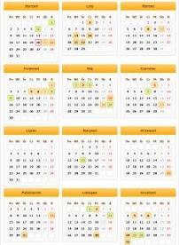 KALENDARZ- każda data aktywna