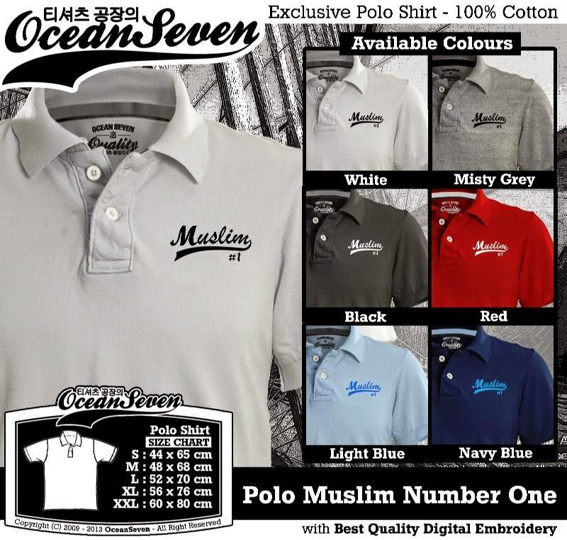 Kaos Polo Muslim Number One