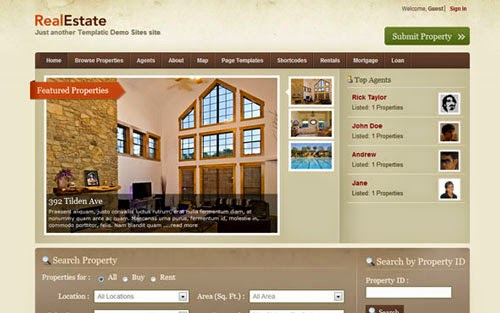 Real Estate 2 Templatic Wordpress Theme Version 2.2.9 free