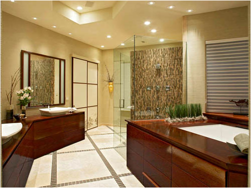 Asian bathroom design ideas room design inspirations for Salle de bain zen bambou