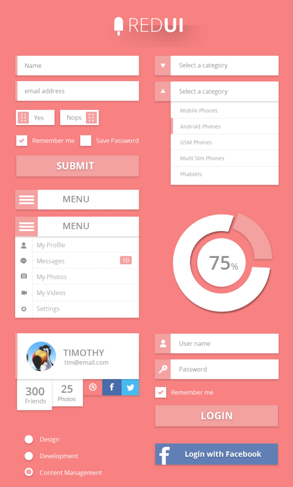 User Interface Design Kit PSD