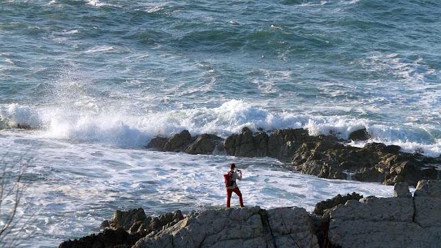 fotografiando el mar en sopela
