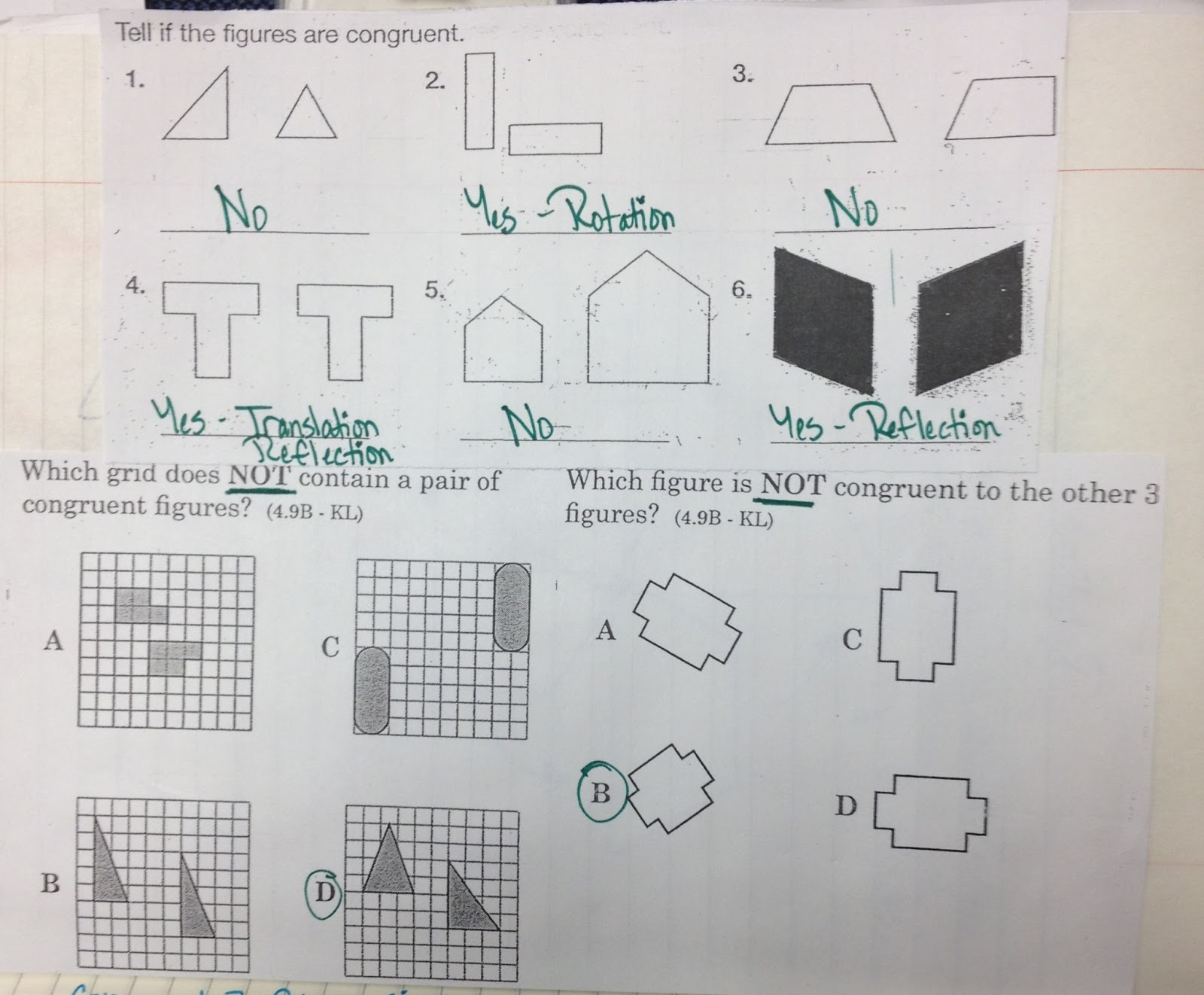 The 4th Grade May-niacs: Relating Congruence to Transformations