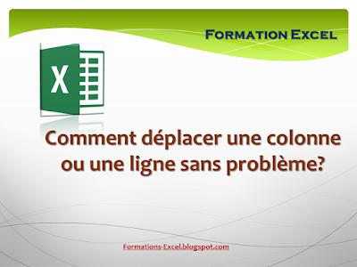 déplacer colonne et ligne Excel
