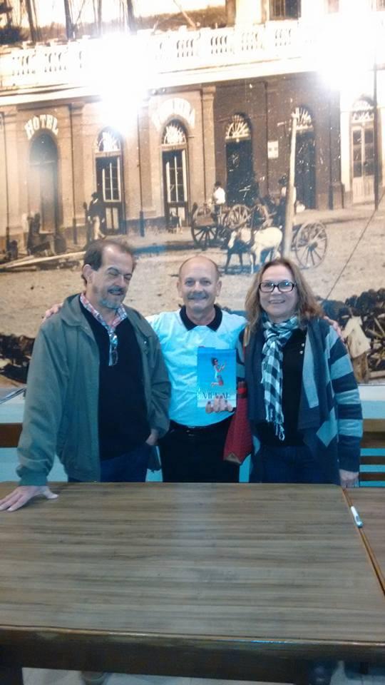 Manoel com Eugênia Fernandes Silveira e seu marido