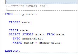 código ABAP del evento