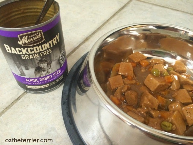 Merrick Backcountry includes cooked canned recipes with exotic proteins